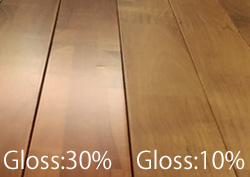 UV塗装つや消しと通常品の比較