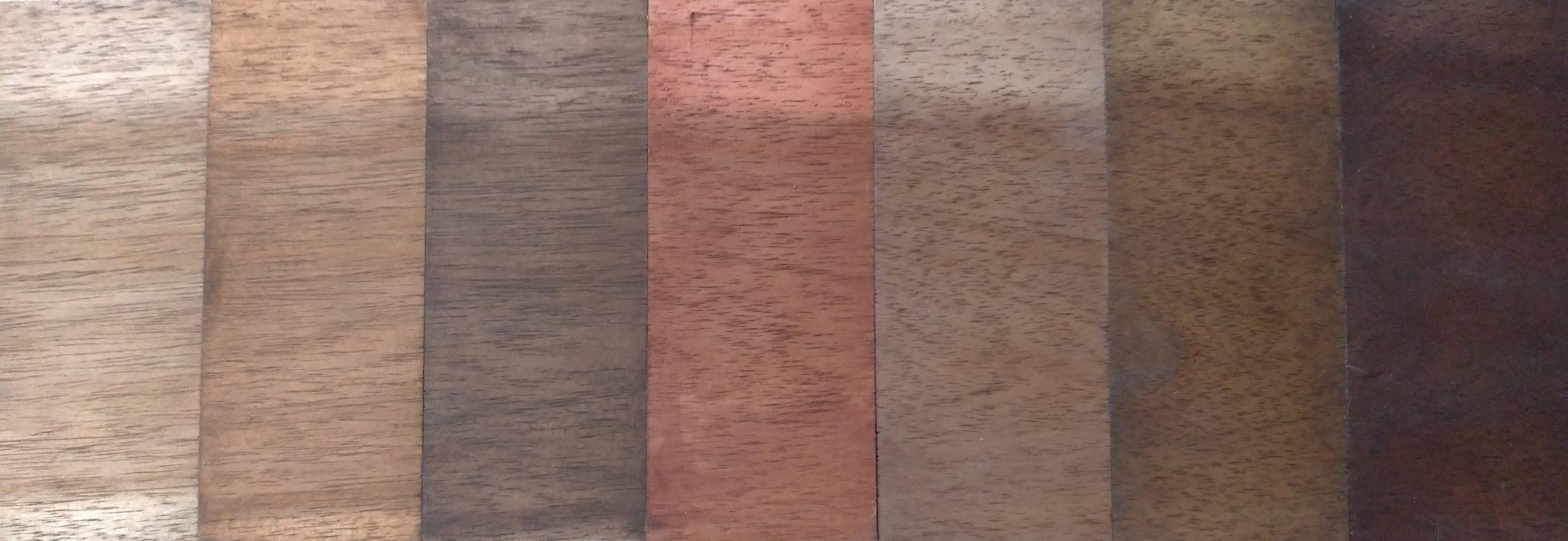 アカシアの色の比較サンプル